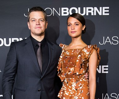 Matt Damon and Alicia Vikander walk the Australian red carpet