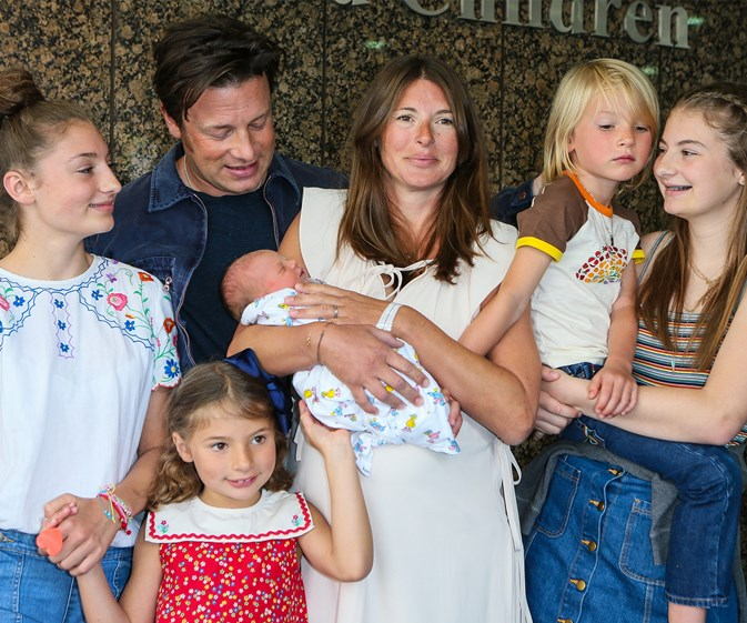 Jamie Oliver would like to officially introduce his son, River Rocket