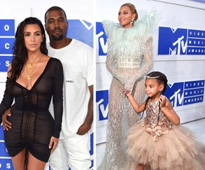 Kim Kardashian, Kanye West, Beyonce Knowles and Blue Ivy