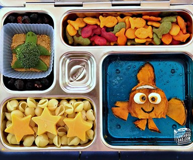 Meet the adorable dad who makes the most amazing school lunches for his kids