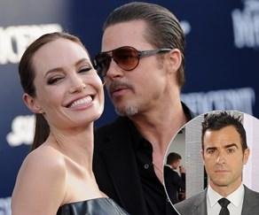 Justin Theroux, Angelina Jolie, Brad Pitt