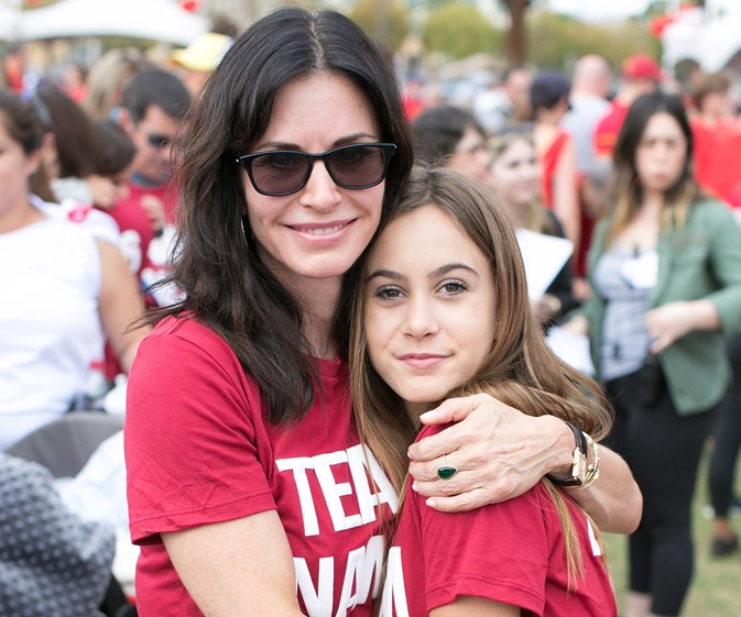 Coco Arquette cheers on mum Courteney Cox at charity walk