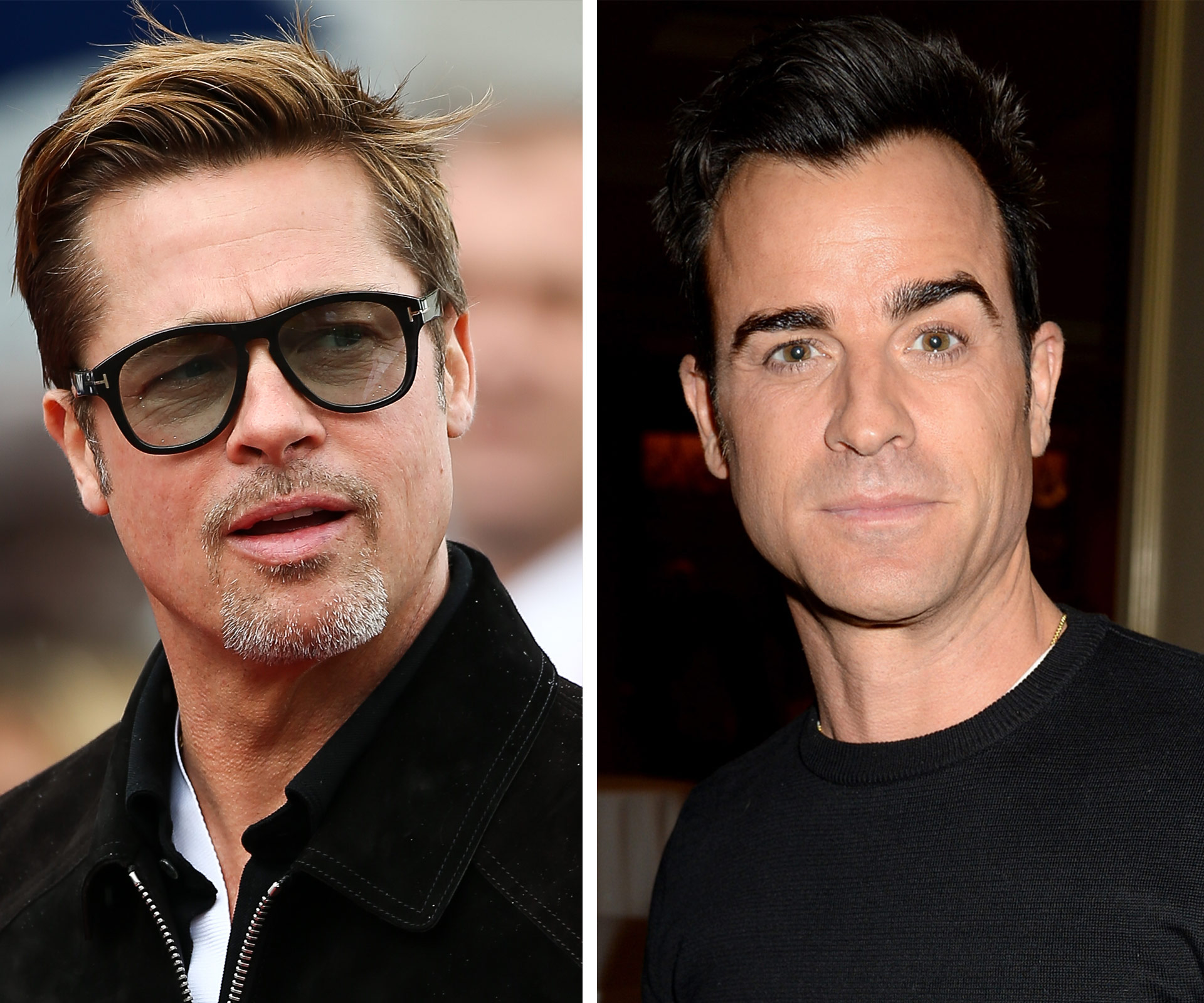 Justin Theroux throws major shade at Brad Pitt on social media