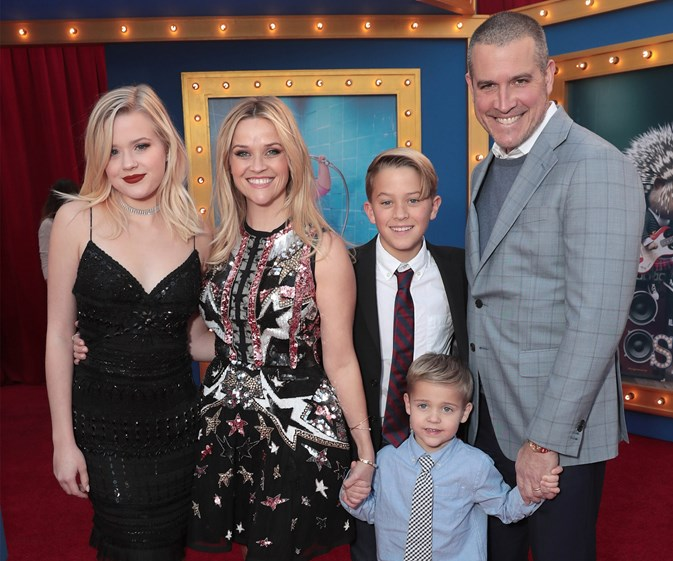 It's a family affair! Reese Witherspoon brings her kids to the Sing premiere