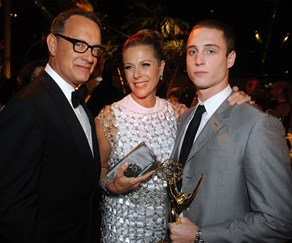 Tom Hanks, Chet Hanks and Rita Wilson