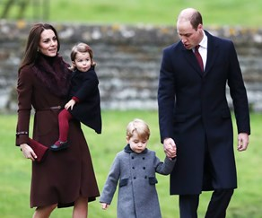 Prince William, Duchess Catherine, Prince George, Princess Charlotte