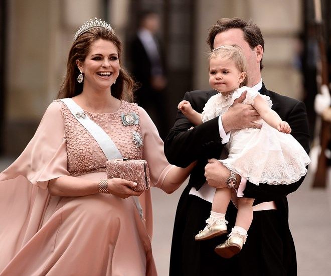 Princess Madeleine, Princess Leonore and Christopher O'Neill
