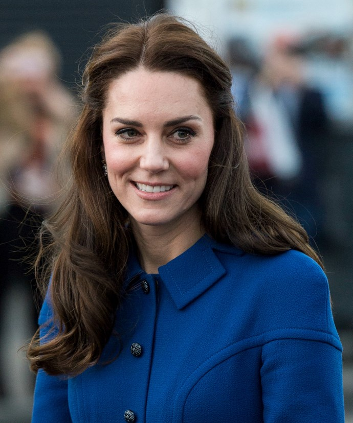 Of course, Kate's signature blow-dry was present at the occasion as well.