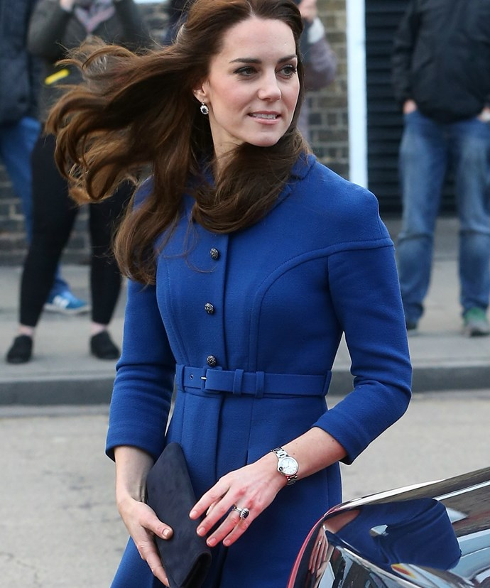 Kate's goregous coat-dress was designed by Eponine and can be snapped up for the hefty sum of $2,600.