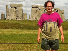 Man knits jumpers of the destinations he travels to