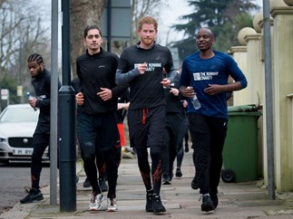 Prince Harry goes on run to support charity for homeless youths