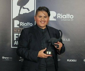 Julian Dennison at the Rialto Channel NZ Film Awards.