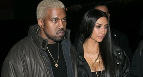 Kayne West with wife Kim Kardashian