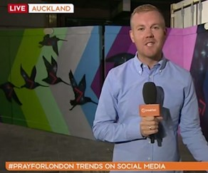 Weather presenter Matt McLean accidentally swears on live television.
