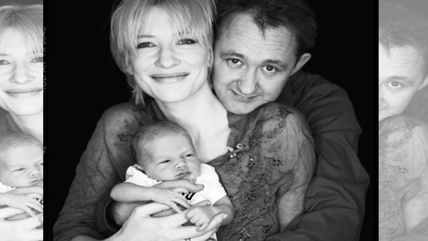 Cate Blanchett and Andrew Upton with edlest son Dashiell John in 2001