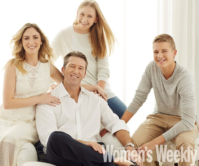 Glenn, Sara, James and Holly McGrath. Photography by Juli Balla, styling by Rebecca Rac. Copyright: The Australian Women's Weekly.
