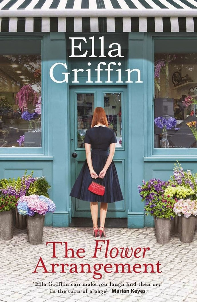 **The Flower Arrangement** by Ella Griffin A woman struggling with her own heartache weaves magic into the bouquets she chooses for the cast of damaged customers who pass through the Blossom & Grow flower shop.