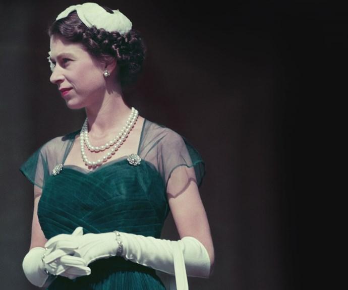 The Queen in Melbourne in 1954.