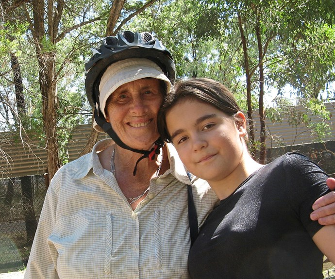 Baby Love author Robin Barker with her granddaughter Sage Carruthers, 13.
