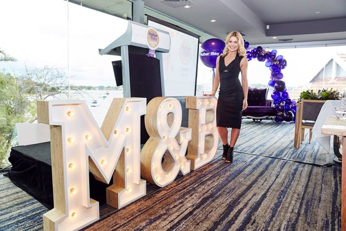 Natalie Bassingthwaighte hosted the Mother & Baby Awards at the Sydney Rowing Club.