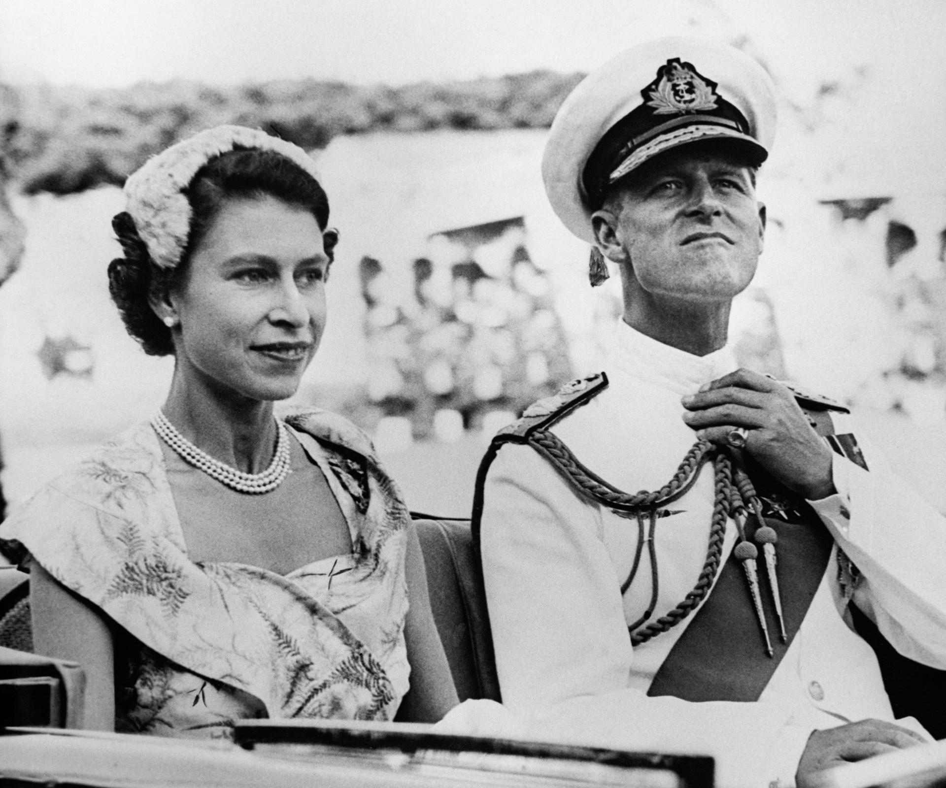 Biographer A.M Wilson told his audience that Philip's first remark to the Queen after her coronation was, 'Where did you get that hat?' PHOTO: The Queen and Prince Philip in Australia in 1954.