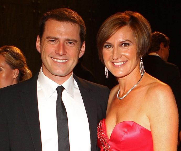 Karl Stefanovic and Cassandra Thorburn.
