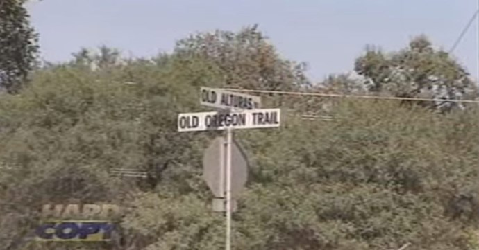 The rural road in Redding where Tera went missing in 1998.