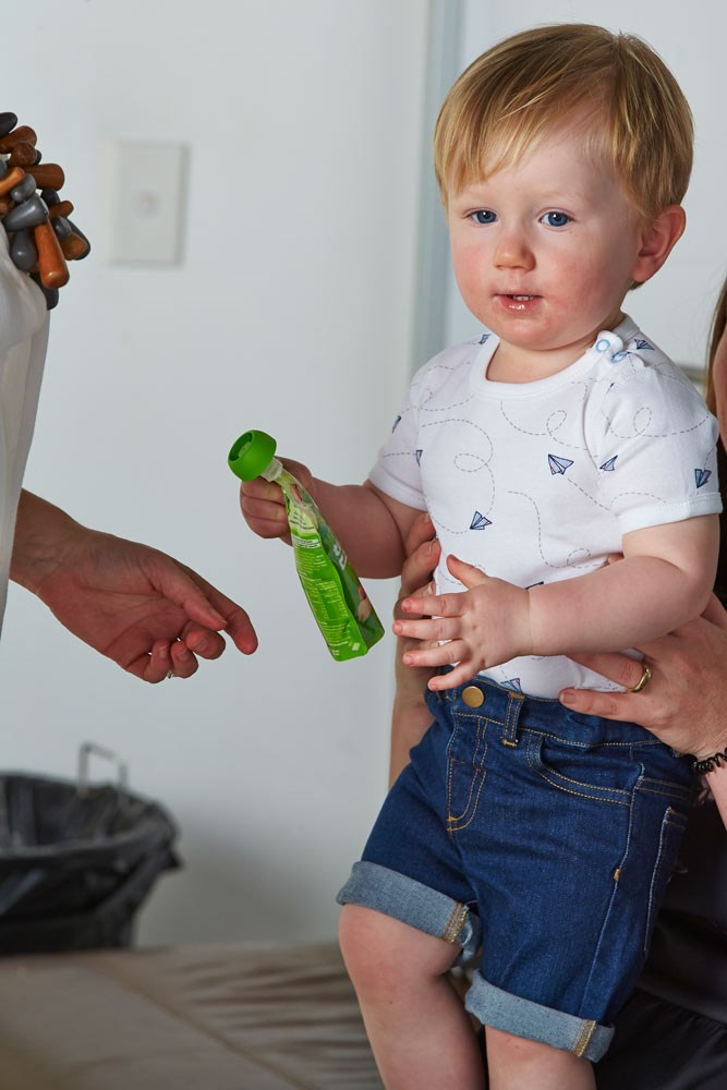 One of our little stars, Orion. Grab our new issue to see him model The Wiggle's bib design.