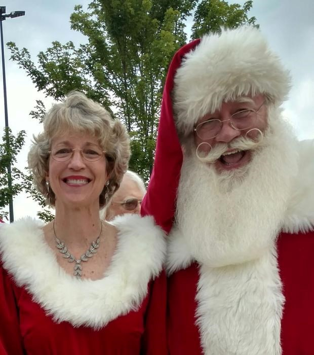 Eric with his wife Sharon, who impersonates Mrs Claus.