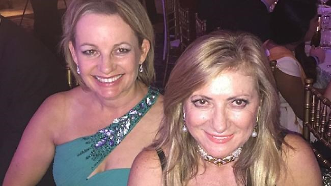 Sussan Ley with recruitment mogul Sarina Russo.