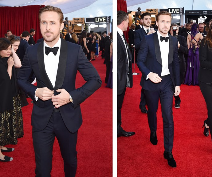 Hollywood heartthrob Ryan Gosling is nominated for his leading role in *La La Land*.