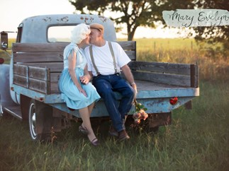 older couple's notebook themed photoshoot