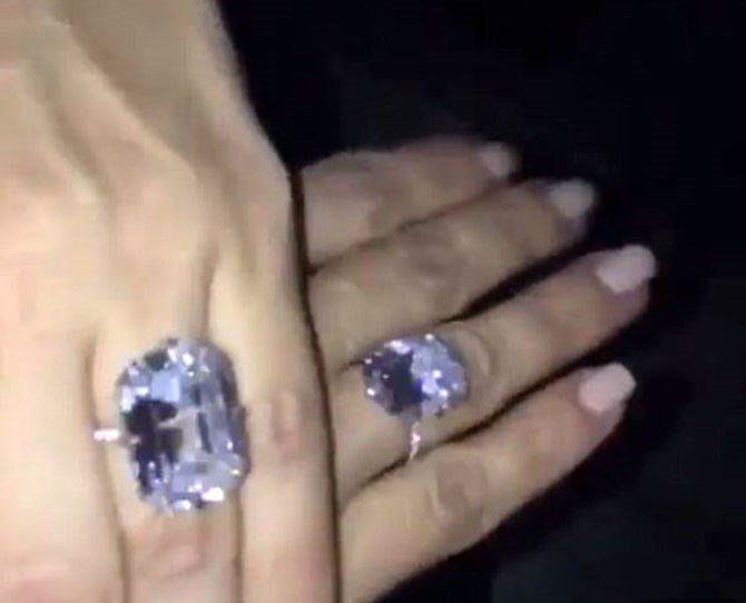 As if one massive diamond wasn't enough, Kanye West goes and gives Kim Kardashian yet another whopping Lorraine Schwartz rock and holy shit it's TDF. Kim shares a Snapchat vid of her matching sparklers and we're legit mesmerised 'cause they're absolutely STUNNING. Props to Kanye though for treating his wife like a goddamn Kween - well done, boy. Well done.