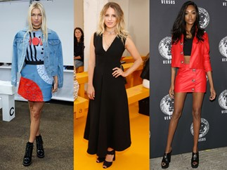 Celebrity style London Fashion Week