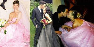 12 Colourful celebrity wedding dresses