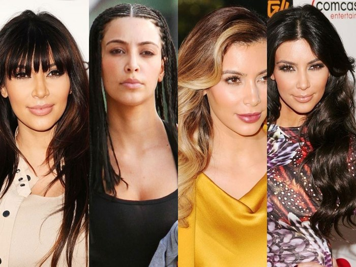 The Complete Evolution of Kim Kardashian's Hair