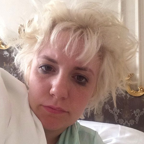 **Bad bedhead.** Turns out bedhead is a helluva lot more common that you thought. Lena Dunham shared her own #IWokeUpLikeThis snap of her, umm, INTENSE bedhead and we feel her pain. EVERY DAMN MORNING.