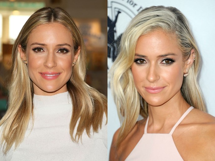 We first met Kristin Cavallari years and years ago on *Laguna Beach*. As time has passed, the reality TV star's hair colour has always remained the same. However, Kristin recently lightened her tresses from dirty blonde to platinum. We think the new 'do suits her!
