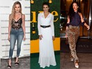 Celebrities wearing things in October