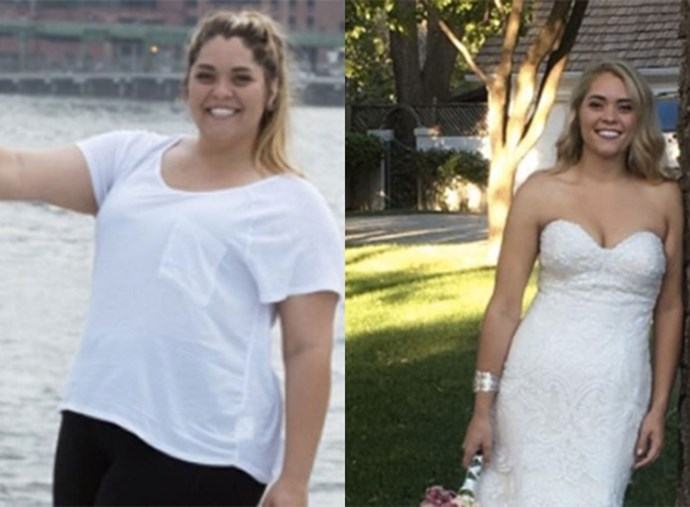 This bride lost an incredible 50 kilograms between her proposal and wedding day