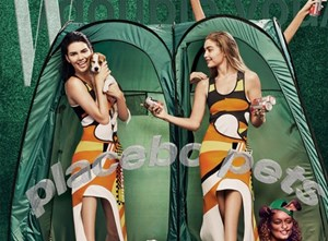 Kendall and Gigi's knees photoshopped out of W Magazine