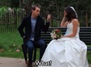 This woman wore a wedding dress to her Tinder dates and LOL