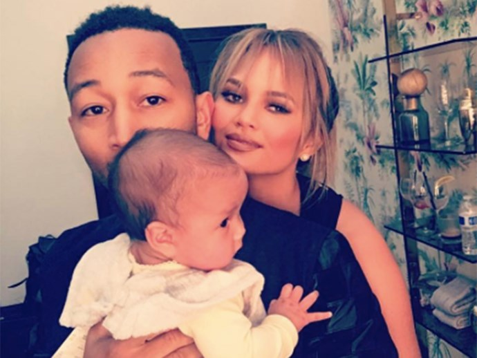 Chrissy Teigen hits back at criticism of how she carried daughter Luna