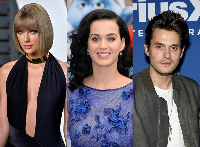 AWKWARD: Taylor Swift attended the same party as her nemesis Katy Perry and ex-boyfriend John Mayer