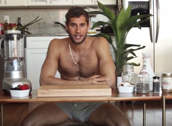 WATCH: This male model films cooking tutorials in his underwear and ZOMG