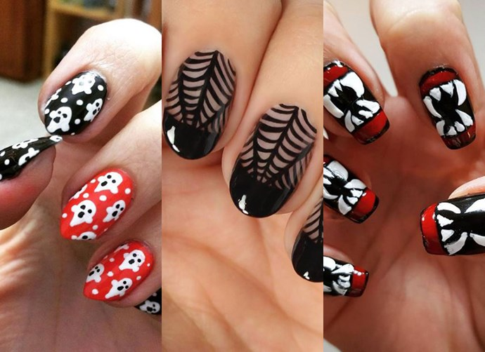 13 of the ~creepiest~ Halloween nail art ideas on Instagram