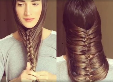 WATCH: This beauty blogger created the *best* hairstyle, starting with an under chin braid