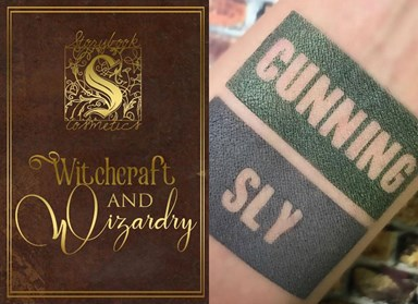 UPDATED: All of the swatches from the Harry Potter eyeshadow palette