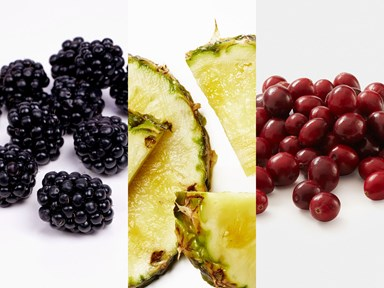 The fruits with the most and the least amount of sugar
