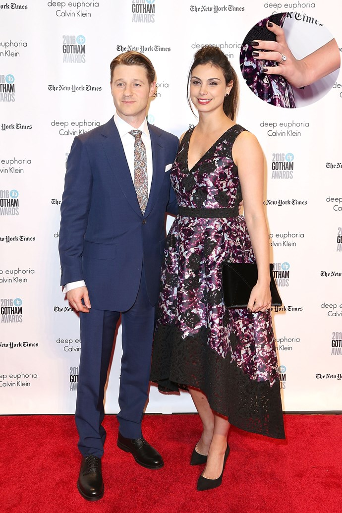 Congrats are in order for ur boy Ryan Atwood (okay, fine, Ben McKenzie) who is engaged to his longtime GF/ mother of his eight-month old daughter, Morena Baccarin!